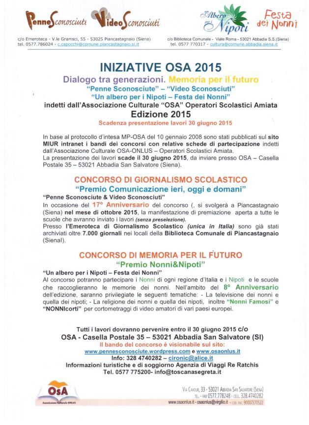 iniziative 2015